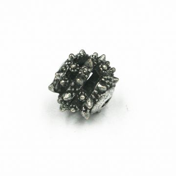 8pcs x 11mm spike bead - antique silver - 4000076